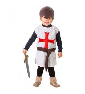 Kruisvaarder Tim Heilige Oorlog Middeleeuwen Kind Kostuum