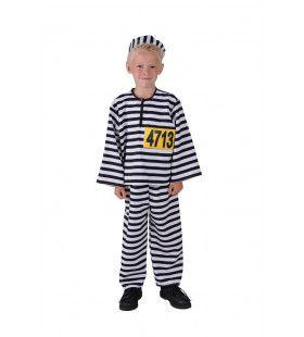 Zwart Wit Zware Misdaad Klein Boefje Kind Kostuum