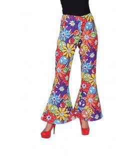 Vrolijke Smiley Hippie Broek Vrouw