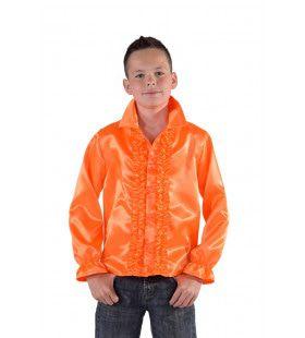 Niet Hakken Maar Dansen Ruches Blouse Oranje Jongen