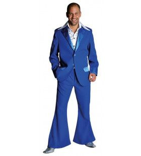 Kobalt Blauw Saturday Night Boogie Night Man Kostuum