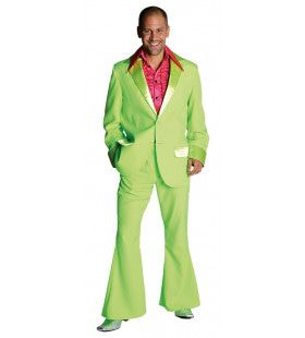 Fluor Groen Saturday Night Boogie Night Man Kostuum