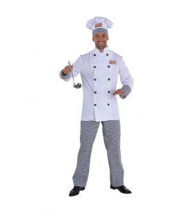 Chef Haute Cuisine Keuken Baas Man Kostuum