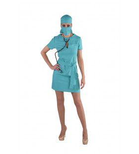 Open Hart Operatie Chirurg Vrouw Kostuum