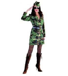 Jungle Commando Camouflage Leger Vrouw Kostuum
