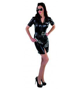 Gladde Strakke Fbi Agent Vrouw Kostuum