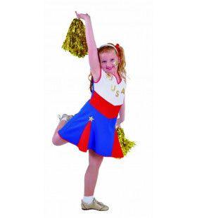 Tumbling Cheerleader Go USA Meisje Kostuum