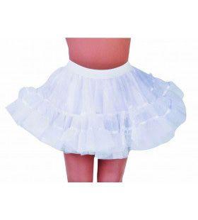 Rockabilly Petticoat Wit Vrouw