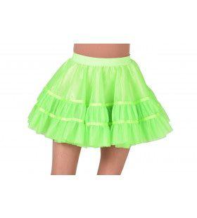 Rockabilly Petticoat Neon Groen Vrouw