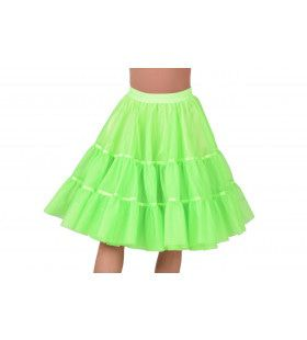 Jaren 50 High School Petticoat Neon Groen Vrouw