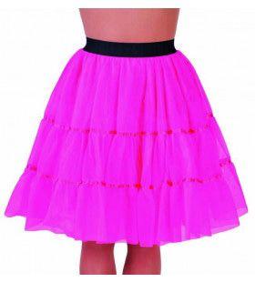 Jaren 50 High School Petticoat Roze Vrouw