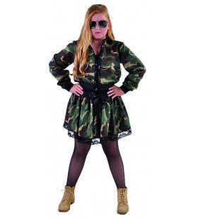Jaren 90 Rockster Leger Camouflage Rok Meisje