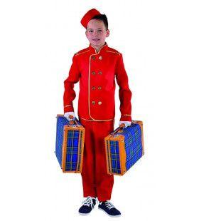 Koffersjouwer Bell Boy Hilton Hotel Jongen Kostuum