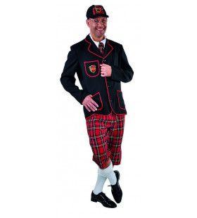 Nooit Te Oud Om Te Leren Schooljongen Man Kostuum