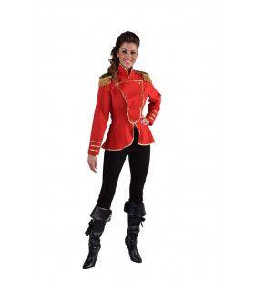 Cavalerie Uniform Jas Rood Vrouw