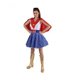 Super Ster Super Girl Vrouw Kostuum