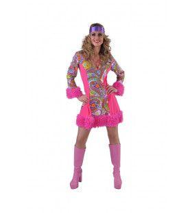 Swingend Funky Jaren 70 Vrouw Kostuum