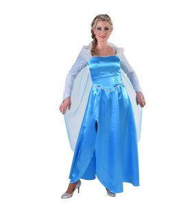 IJskoude Blauwe IJsprinses Vrouw Kostuum
