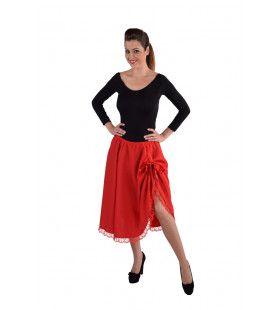 Rumba Cuba Dans Rok Rood Vrouw