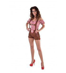 Hartverwarmende Hotpants Lederhosen Edelweiss Vrouw