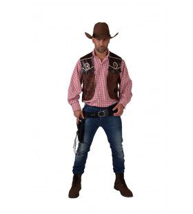 Cowboy Vest Wide Westen Butch Man Kostuum
