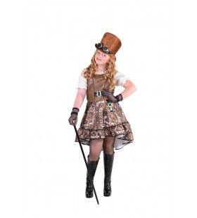 Kamwiel En Tandrad Steampunk Meisje Kostuum