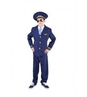 Gezagvoerder Boeing 747 Piloot Jongen Kostuum