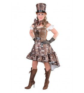 Steampunk Vol Tandwielen En Radertjes Vrouw Kostuum