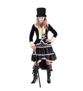 Steampunk Blackpool Beauty Vrouw Kostuum