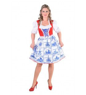 Delfts Blauwe Molen Klederdracht Vrouw Kostuum