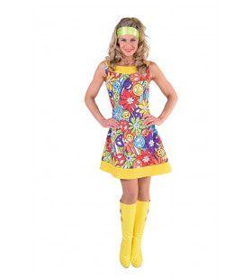 Hippie Vol Smileys Vrouw Kostuum