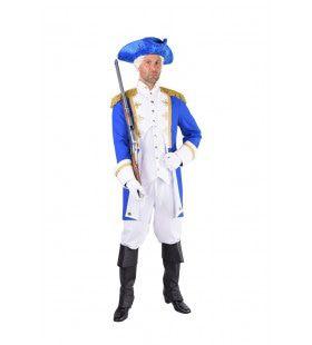 Garde Officier Koninklijk Paleis Blauw Man Kostuum