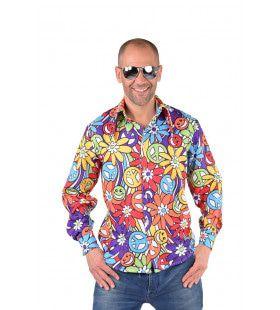 Flower Power Lachebekjes Hippie Hemd Man