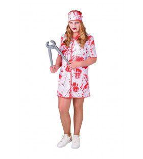 Niet Al Te Zachtzinnige Ziekenhuis Verpleegster Meisje Kostuum