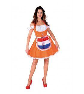Oranje Boven Hollands Bier Is Beter Dirndl Vrouw Kostuum