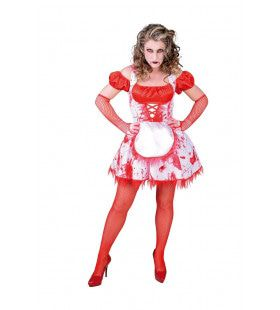 Bier Op Dan Maar Bloed Oktoberfest Vrouw Kostuum