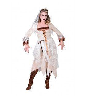 Spookachtige Zombie Bruid Vrouw Kostuum