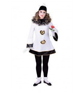 Treurige Pierrot Klassiek Vrouw Kostuum