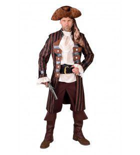 Gestreepte Mantel Kaper Kapitein Zwartbaard