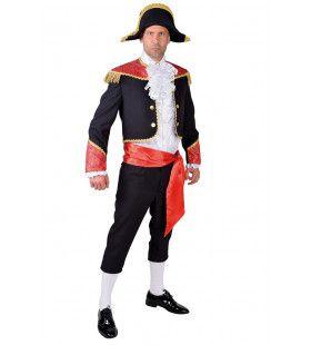 Trotse Zwart Rode Spaanse Stierenvechter Toreador Man Kostuum