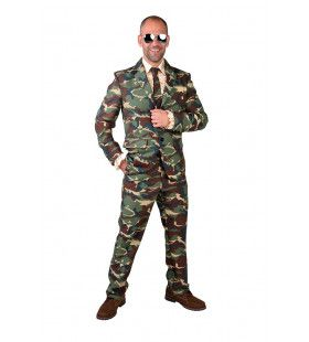 Uitgaanstenue Camouflage Soldaat Man Kostuum