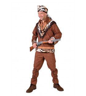 Tijger Jager Avonturier Man Kostuum