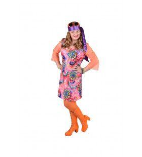Grote Zomer Bloemen Hippie Meisje Kostuum