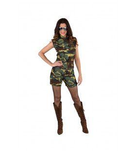 Camouflage Hotpants Verhitte Strijd Vrouw