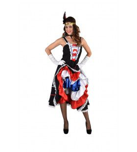 Vive La France Can Can Vrouw Kostuum