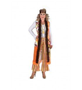 Hippie Retro Met Kuitlang Vest Vrouw