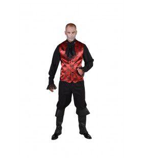 Spinnenweb Halloween Gilet Rood Man