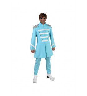 Lichtblauw Lonely Hearts Club Beatles Man Kostuum