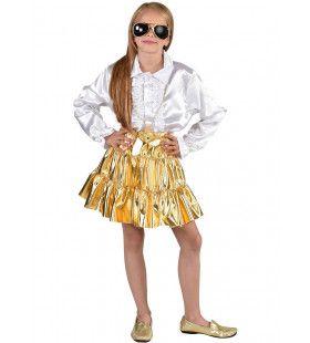Gouden Folie Glamour En Glitter Rok Meisje
