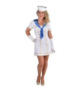Matroos Luxe Cruiseschip Middellandse Zee Vrouw Kostuum